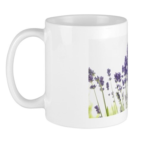 Close-up of Lavender Mug