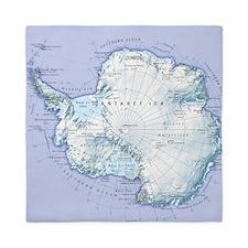Digital illustration of Antarctica Queen Duvet