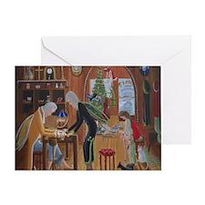 Papa Ks Cobbler Shop During Christma Greeting Card