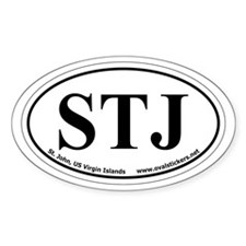 St. John, US Virgin Islands Oval Car Decal