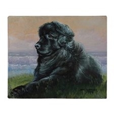 Newfoundland Dog Throw Blanket