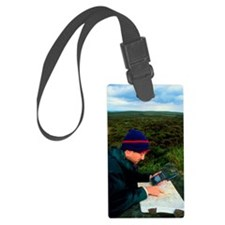 Walker using hand-held GPS recei Luggage Tag