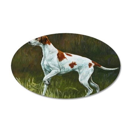 English Pointer 35x21 Oval Wall Decal