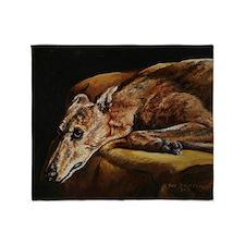 Greyhound Resting Throw Blanket