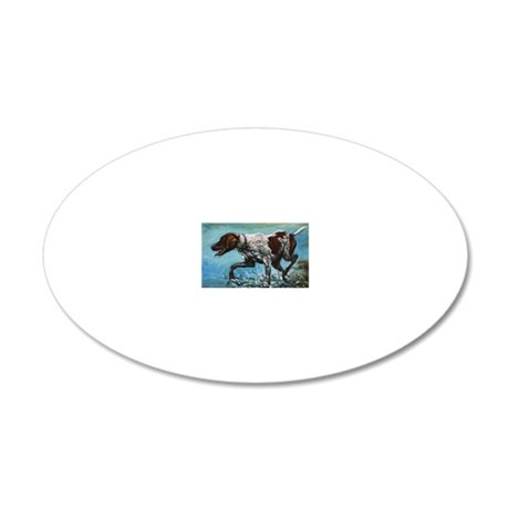 German Shorthaired Pointer 20x12 Oval Wall Decal