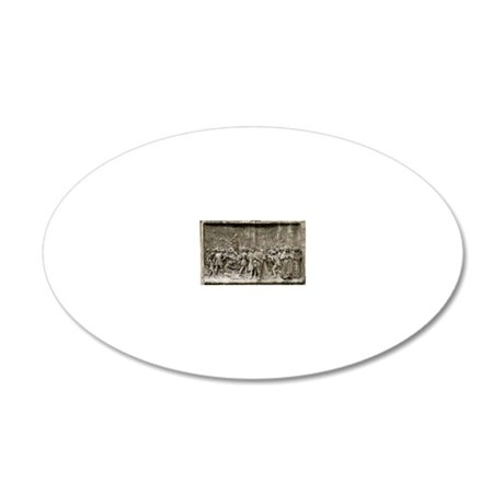 Giordano Bruno's execution 20x12 Oval Wall Decal