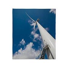 Wind turbine Throw Blanket