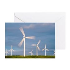 Wind farm, Scotland Greeting Card