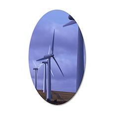 Wind farm turbines 35x21 Oval Wall Decal