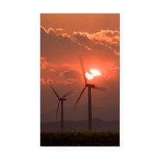 Wind turbines Rectangle Car Magnet