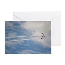 Red Arrows at air show Greeting Card