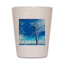 Wind power, artwork Shot Glass