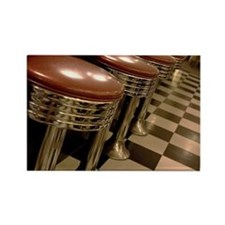 Old fashioned counter stools at a Rectangle Magnet