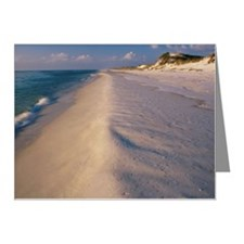 High angle view of a beach,  Note Cards (Pk of 20)