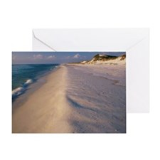 High angle view of a beach, St. Jose Greeting Card