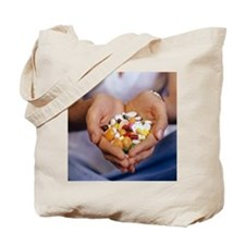 Handful of pills Tote Bag