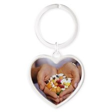 Handful of pills Heart Keychain