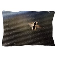 Bee on Screen Door Pillow Case