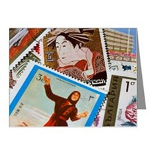 Assorted foreign postage sta Note Cards (Pk of 20)