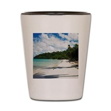 Shadow of trees on the beach, Providenc Shot Glass