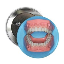 "Model of a mouth 2.25"" Button"