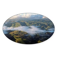 Clouds over mountains in Caguas, Pu Decal