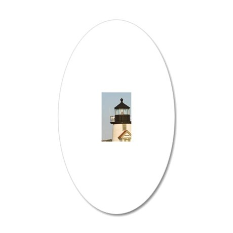 Brant Point Lighthouse 20x12 Oval Wall Decal