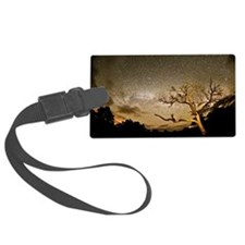 Milkyway star Galaxy in night sk Luggage Tag