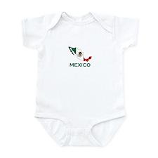 Mexico Map (Light) Infant Bodysuit