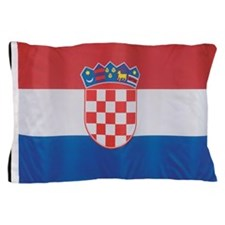 Close-up of the flag of Croatia Pillow Case