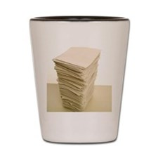 Stack of papers Shot Glass