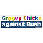 Groovy Chicks Against Bush Bumper Sticker