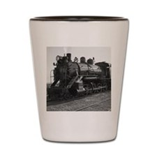 Vintage locomotive in ely, nevada Shot Glass
