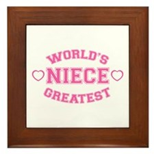 World's Greatest Niece Framed Tile