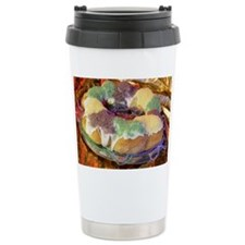 Mardi Gras King cake Ceramic Travel Mug