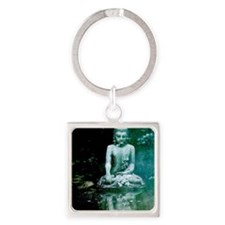 Buddha Reflection Square Keychain