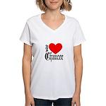 I Love Chaucer Women's V-Neck T-Shirt
