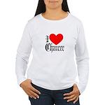 I Love Chaucer Women's Long Sleeve T-Shirt