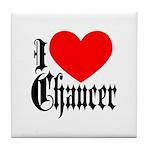 I Love Chaucer Tile Coaster