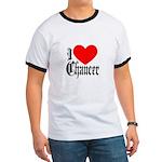 I Love Chaucer Ringer T
