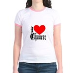 I Love Chaucer Jr. Ringer T-Shirt