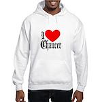 I Love Chaucer Hooded Sweatshirt