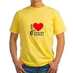 I Love Chaucer Yellow T-Shirt