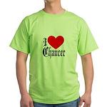 I Love Chaucer Green T-Shirt