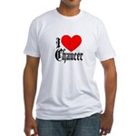 I Love Chaucer Fitted T-Shirt