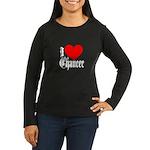 I Love Chaucer Women's Long Sleeve Dark T-Shirt