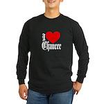 I Love Chaucer Long Sleeve Dark T-Shirt