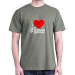 I Love Chaucer Dark T-Shirt