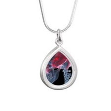 Headache, X-ray artwork Silver Teardrop Necklace