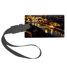 Verona and Adige river at night Luggage Tag